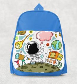 Kids Backpack - Astronaut Blue