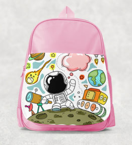 Kids Backpack - Astronaut Pink