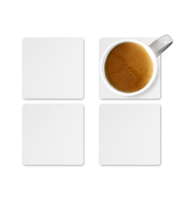 A Coaster Set of 4 - MDF Wood - Create your Own
