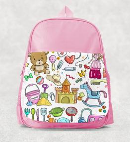 Kids Backpack - Girl Design Pink