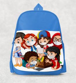 Kids Backpack - Kids with Masks