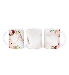 Mug – Alphabet Monogram Rose