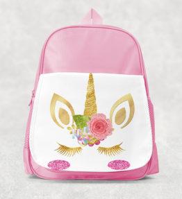 Kids Backpack - Unicorn Gold