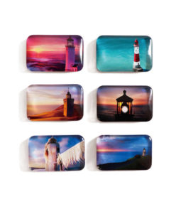 Domed Glass Rectangle Fridge Magnet - Create your Own