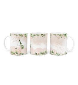 Mug – Alphabet Monogram Green & Peach